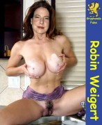 robin weigert nude fakes playing with boobs and hairy pussy