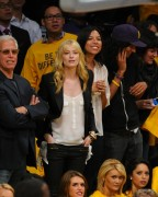 Beth Behrs - at the Los Angeles Lakers Playoff game in Los Angeles 05/18/12
