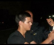 Taylor Lautner on the set of 'Abduction' 892ae498523177